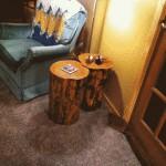 Log end tables